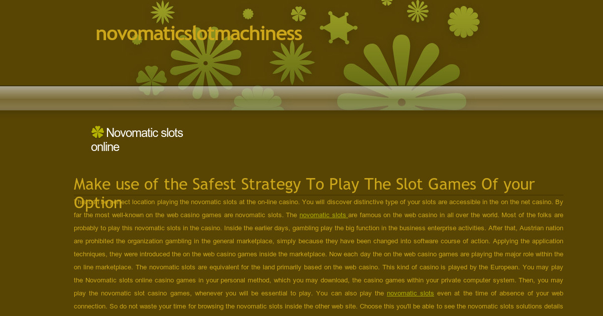 free play online slots novo games online